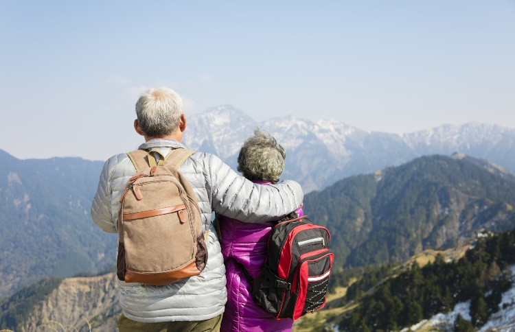 Older Couple in Mountains