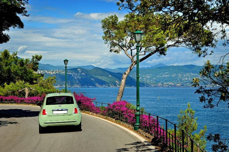 Driving on Italian Coast