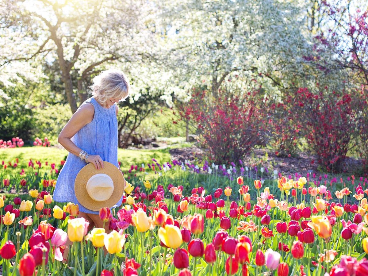 Lady gardening during spring
