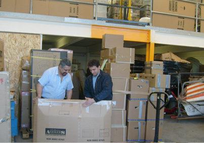 Andrews shipping warehouse